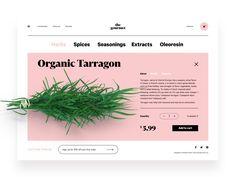 Gourmet herbs website design tubik