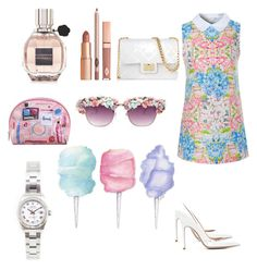 """""""Untitled #16"""" by lotshina ❤ liked on Polyvore featuring Glamorous, Gianvito Rossi, Viktor & Rolf, Rolex, Cotton Candy, A-Morir by Kerin Rose and Design Inverso"""