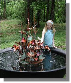 Nice copper fountain in sugar kettle
