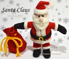 Crochet Santa Claus,Only need 3.0mm hook, prepare Christmas day 2015