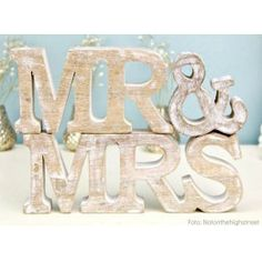 Letras de Madera Mr&Mrs - the craftcake mama shop
