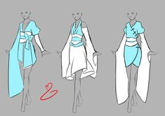 Inspiration: Clothing ----Manga Art Anime #drawing Clothes Asian-Inspired---- [[[by rika-dono on deviantART]]]