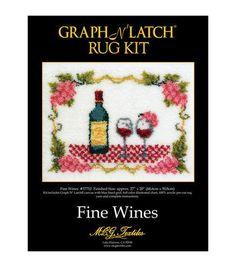 Latch Hook Kit 27''X20''-Wine Rug