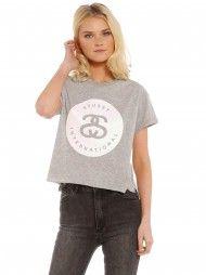 Reid Crop T-Shirt in Grey