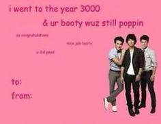 year 3000 pop punk jonas brothers valentines day card