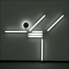 Skater Neon from the series 'Nowhere Man' by artist Ivan Navarro... Minimalist and yet so powerful
