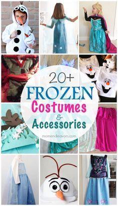20+ DIY Disney FROZEN Costumes #Disney #FROZEN #Halloween