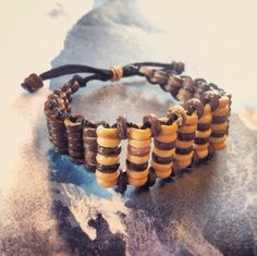 Handmade Peace Of Swag Hipster Ladder BROWN Coconut Wood Wooden Fashion Bracelet  $7.50 FREE US SH. International Avail. #peace #hipster #fashion