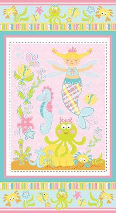 R37 Magical Mermaid, Fabric Gallery, Marcus Fabrics
