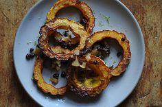 Delicata Squash Rings w/Currant, Apple and Raisin Glaze  Food 52