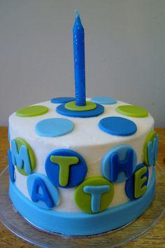 Картинки по запросу polka dot birthday cake for boy
