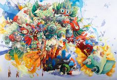 Juxtapoz Magazine - Paintings by Mi Ju Art File, Colorful Paintings, Pop Surrealism, Color Photography, Artist Painting, Amazing Art, Contemporary Art, Original Paintings, Abstract Art