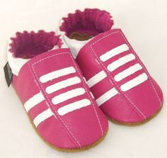 NEW soft sole leather baby crib shoes hot pink running by minitoes Baby Crib Shoes, Babies Stuff, Hot Pink, Adidas Sneakers, Running, Sandals, Trending Outfits, Unique Jewelry, Handmade Gifts