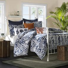 Enjoy a beach house inspired bedroom with Harbor House bedding sets. Choose from over 50 different Harbor House comforter sets, duvets and sheets. Beach Bedding Sets, Coastal Bedding, Coastal Bedrooms, Coastal Decor, Coastal Living, Tropical Bedding, Coastal Cottage, Beach Bedrooms, Nautical Bedding