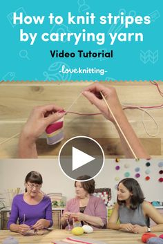 FREE knitting video tutorial for how to knit stripes by carrying yarn. Learn to knit stripes into your knitting projects with our how-to video over on LoveKnitting.