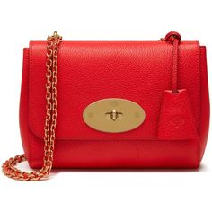 Mulberry Lily (1,600 BAM) ❤ liked on Polyvore featuring bags, handbags, fiery red, mulberry purse, red evening handbags, red evening bag, woven leather bag and chain strap purse