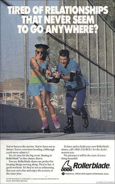 Old inline skate ad from Rollerblade