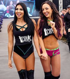 Peyton Royce and Billie Kay Wwe Divas Paige, Wwe Nxt Divas, Wrestling Divas, Women's Wrestling, Renee Young Wwe, Nikki Bella Photos, Wwe Sports, Gorgeous Ladies Of Wrestling, Wwe Outfits