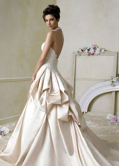 Jim Hjelm Blush Silk Satin Ball Bridal Gown Such A Princess Dress I Love