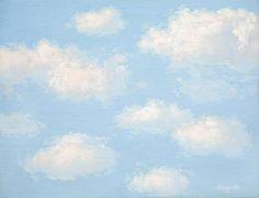 René Magritte - La Malédiction, 1963, oil on canvas on cardboard