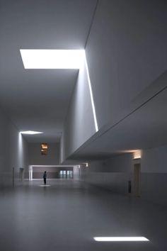 Álvaro Siza Vieira, Fernando Guerra / FG+SG · Sports Complex · Divisare Ceiling Design, Lamp Design, Lighting Design, Contemporary Architecture, Architecture Design, Best Architects, Arch Interior, Sports Complex, Light Images