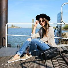 Sperry - beige bootschoenen | Outfit by: mixtfashion.com