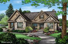 2291 sq ft ePlans Craftsman Style House Plan – Cute Craftsman Cottage – 2291 Square Feet and 3 Bedrooms from ePlans – House Plan Code Craftsman Exterior, Craftsman Style House Plans, Ranch House Plans, Cottage House Plans, Country House Plans, Cottage Homes, Rustic House Plans, Cottage Ideas, Cabin Homes