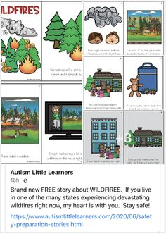 Today Tucci Learning Solution is sharing this awesome instructional resource among our colleagues. Thank you, Tara Tuchel @autismlittlelearners for such a wonderful wildfire social story. Social Stories, Learning Environments, Articles, Apps, Activities, Awesome, App, Appliques