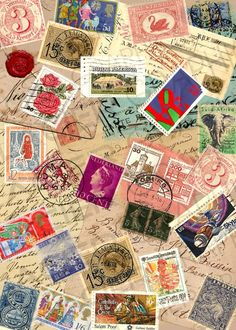 Items similar to Vintage Postage Stamp Ephemera Collage Sheet French Postcard Scrapbook Images Postage Stamps Clip Art Sheet on Etsy Scrapbook Images, Scrapbook Designs, Scrapbook Paper, Scrapbooking, Collage Background, Collage Sheet, Collage Art, Atc Cards, Vintage Postcards
