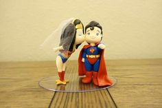 Superman y mujer maravilla para boda
