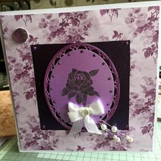 using Phill Martin paper pad, rose stamps,and pva, Sue Wilson Austrian dies