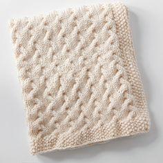 We Like Knitting: Tiny Ripples - Free Baby Blanket Knitting Pattern Easy Knit Baby Blanket, Free Baby Blanket Patterns, Knitted Baby Blankets, Baby Knitting Patterns, Baby Patterns, Knitting Stitches, Crochet Patterns, Knitted Bags, Manta Crochet