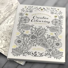Personalised Creative Colouring Book - Hardback - Buy from Prezzybox.com