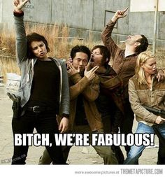 Yeah we are! The Walking Dead Cast. Awesomeness. Especially Mr. Reedus. Naturally. He's Daryl Dixon damnit.