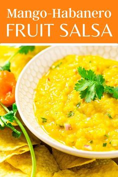 Mango habanero salsa is the tropical fruit salsa you'll want to snack on all summer long! Made with fresh or frozen mango, spicy habanero and fragrant ginger, this easy mango salsa comes together in under 20 minutes and is perfect for dipping or topping on your favorite tacos, nachos and more. Side Dishes For Ham, Best Side Dishes, Side Dish Recipes, Mango Habanero Salsa, Fruit Salsa, Easy Appetizer Recipes, Healthy Appetizers, Easy Recipes, Dip Recipes