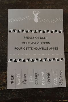 Carte de voeux - nouvelle année (have my students make their own right after New Years, and make resolutions! Christmas Deco, Winter Christmas, Christmas Time, Christmas Crafts, Xmas Cards, Diy Cards, Nouvel An, New Year Card, Merry Christmas And Happy New Year