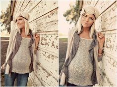 Yes...she is pregnant but she is pretty much the cutest pregnant woman I have ever seen!!!! And her style is amazing! wow!