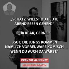 Heute Abend essen gehen? #derneuemann #humor #lustig #spaß