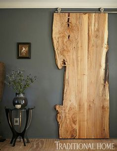 DIY Interior DIY Tür, Innenarchitektur Landscaping Ideas For the person who wants to give their gard The Doors, Entry Doors, Patio Doors, Front Entry, Live Edge Wood, Live Edge Table, Diy Interior, Interior Doors, Interior Decorating