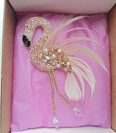 Margarita saved to Beadwork Order # embroidery beadwork # embroidery # handmade embroidery # embroidery work # brooch # brooch # brooch work # embroidered flute # flamingo # brochure flamingo # flamingo-biser Diy Bead Embroidery, Hand Embroidery, Embroidery Designs, Peyote Patterns, Beading Patterns, Beaded Brooch, Beaded Jewelry, Brooches Handmade, Handmade Jewelry