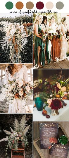 stunning orange and teal blue fall wedding color inspiration