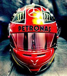 #LH44 #AMG Petronas helmet