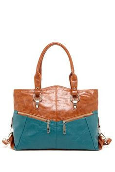 Nu-G Handbags Two-Tone Contrast Tote Bag