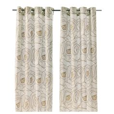 """INGERLISE Curtains, 1 pair - IKEA, Love this Pattern if it is gold with white background.   1 pair $24.99 57"""" x 98"""" - I could see using these in the kitchen / family room"""