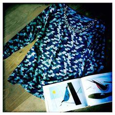 Geometrical printed top - Autumn/Winter 2015/16 - Monika Varga
