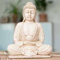 Buddha mit Dhyana Mudra, ca. 23 cm, sandfarben