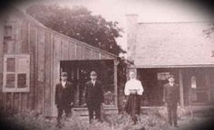 Ed to the far left, brother Frank, mother, Marcella Kyrish Kotara, and brother Henry