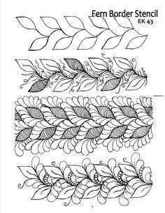 fern border design.