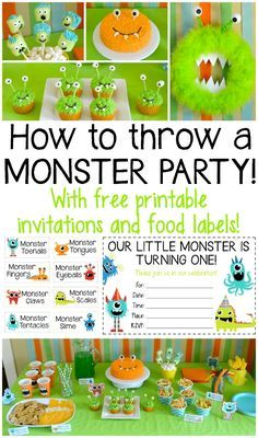What do you do when you're bored, in need of a fun blog post idea, and your kids are begging for another taco party?? Throw a monster party! The little monkeys thought this was way better tha…