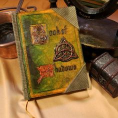 Book of Shadows (big book) Witches Cauldron, Bound Book, Practical Magic, Magic Book, Kitchen Witch, Book Of Shadows, Book Making, Book Gifts, Handmade Decorations